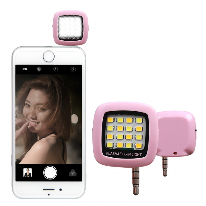 Phone Flash Portable Phone Selfie Mini 16 Led Flash Fill Light For Smartphone Cell Phone Adapter Accessories Mobile Phone Accessories
