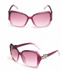 Fashion Sunglasses Sunshade Big Frame Personality Elegant Retro Sunglasses for Women Purple