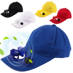 Novelty Sun Solar Power Hat Cap with Cooling Fan for Outdoor Golf Mountain Climbing Baseball Hats Blue