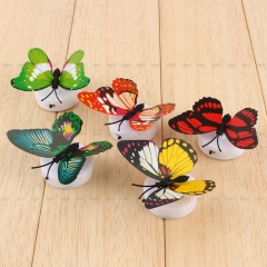 Colorful Changing Butterfly LED Night Light Lamp Home Room Party Desk Wall Decor Color Random-1Pc for Indoor