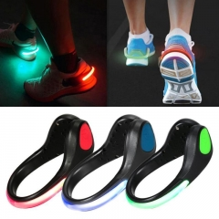 Sport Shoes Lights LED Night Running Shoe Clip Lamp Cycling Safety Warning Lights Shoes Clip Black&White for Outdoor