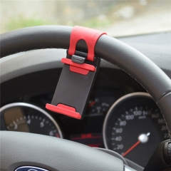 Soft Silicon Steering Wheel Cradle Mobile Phone Holder Clip Car Mount red for phone PH203 99