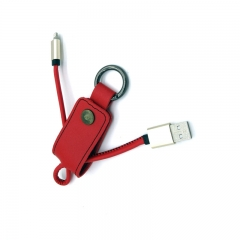 8 Pin Micro USB Cable Keychain 2 in 1 Charging Cables red for phone PH070 99
