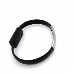 Wrist/Bracelet Shape Micro USB Data Sync Charging Cable for iphone 5/6/7 black for phone PH047B 99