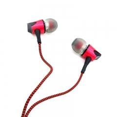 In-Ear Earphone Metal Heavy Bass Sound Quality Music Earphone Headset red