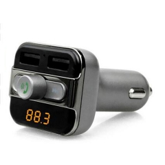 Bluetooth V2.1 Car MP3 Transmitter Hands-free Call 5V 3.4A Dual USB Charger Support TF Card silver for phone PH287S 99