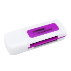 Universal 4 in 1 Memory Multi Card Reader for M2 SD SDHC DV Micro SD TF Card purple for Phone PH236PL 99