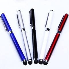 Metal Body Dual-perpose Stylus Pen for Smartphones and Writing Papers