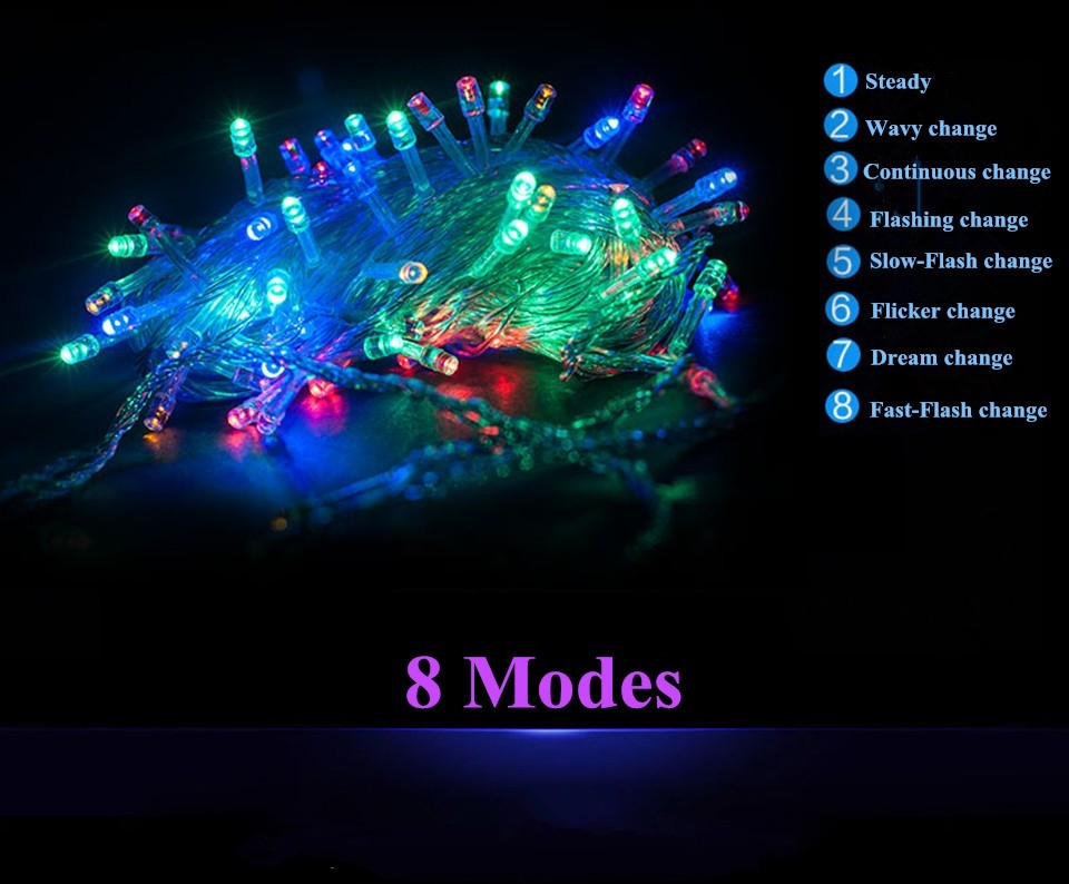 Led Strips String Light Home Decor For Christmas/wedding/party Lights Garland Outdoor Not Waterproof Led Lamp 9 Colors Led String Battery