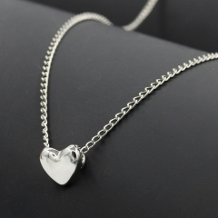 Stylish and Elegant Heart Shape Necklace Jewellery silver color one size