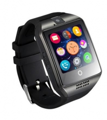 Bluetooth Smart Watch Q18 With Camera MP3 Smartwatch Support SIM TF Card For Android Phone Black