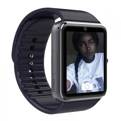 Bluetooth Smart Watch Smartwatch wearable devices SIM TF Card Camera Push Message Android Phone GT08 black