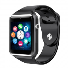WristWatch Bluetooth Smart Watch Sport Pedometer with SIM Camera Smartwatch For Android Smartphone black