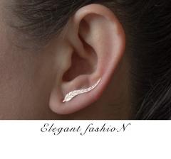 Leaves Ear Stud Lady Earrings Golden 2.3cm