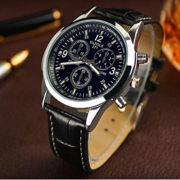 Yazole Men watch Luxury Brand Watches Quartz Clock Fashion Leather belts Watch a