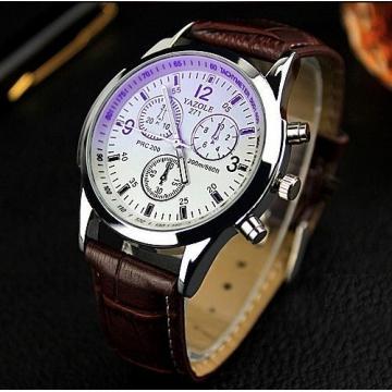 Yazole Men watch Luxury Brand Watches Quartz Clock Fashion Leather belts Watch d