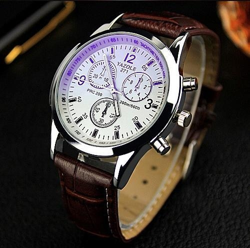 Yazole Men watch Luxury Brand Watches Quartz Clock Fashion Leather belts Watch d