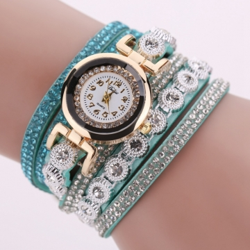 for arrival strap green leather watches new product wholesale watch aztec img mint