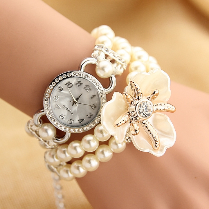 Fashion Top Brand Luxury Quartz Watch Bracelet Ladies Watch 2017 Ladies Ladies Clock Montreux White