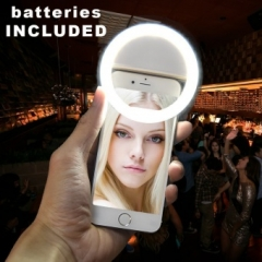 Smartphone LED Ring Selfie Light for Enhancing Photo Light white one size one size