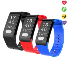 T6 Health ECG Heart Rate Monitor Smart Band Blood Pressure Watch Sleep  Smart Bracelet black
