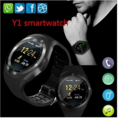 Y1 Smartwatch Bluetooth Smart Watch Reloj Relogio 2G GSM SIM App Sync Mp3 black