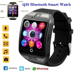 Bluetooth Q18 Fitness Tracker Smart Watch Smartwatch Relogio Watch Camera black