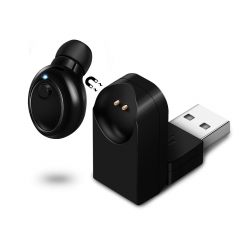 Magnetic Mono Small Single Earbuds Hidden Invisible Earpiece Micro Mini Wireless Headset as shown