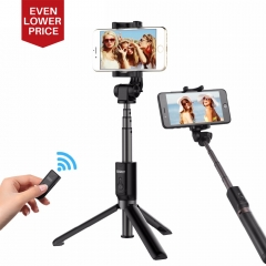 Ulanzi 3 in 1 Handheld Phone Tripod Selfie Stick Extendable Monopod with Bluetooth Remote Control as shown one size one size one size
