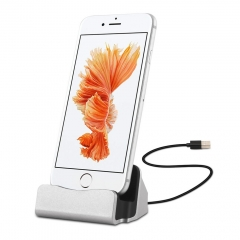 3 in 1 Function Charger Dock Station for iPhone 7 6s 6 Plus Desktop Charging Sync Stand Holder as shown one size