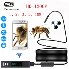 Android & IOS Endoscopio 8 LED 8mm Waterproof Inspection Borescope Tube Camera 5M cable