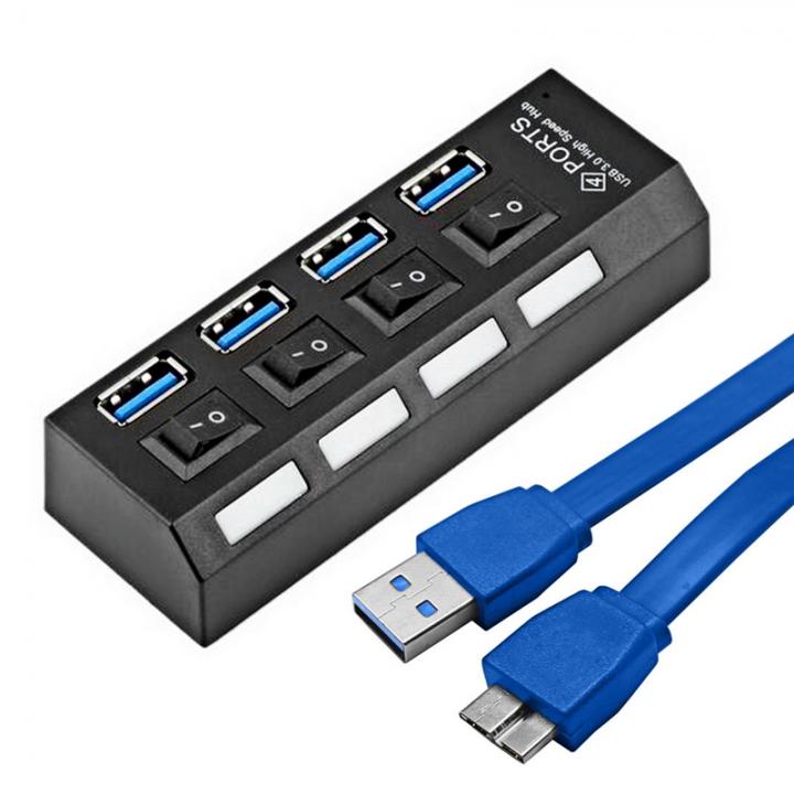 Mini Usb 30 Hub 4 Ports 5gbps Super Speed Portable Usb Hub Black