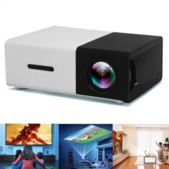YG-300 LCD Mini Support 1080P Portable Projector Home Theater Cinema as shown one size