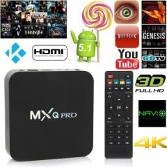 1G+8G MXQ Pro XBMC Kodi QUAD CORE 4K Android 5.1 Lollipop Smart TV BOX EU Plug as shown one size