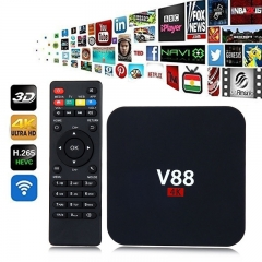 V88 TV Box RK3229 Quadcore 4K Wifi HDMI Android 6.0 1G/8G Smart TV Box as shown one size