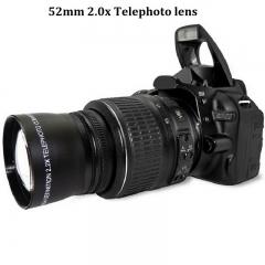 52mm 2.0x Telephoto Lens for Nikon 18-55mm DSLR Cameras