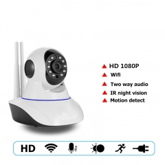 1080P PTZ Wifi IP Camera IR-Cut Night Vision Two Way Audio CCTV Surveillance Smart Camera SD Card as shown one size