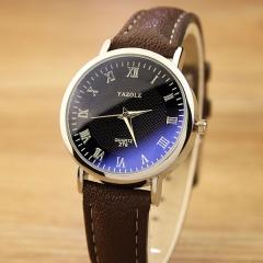 Quartz Watch Hodinky Quartz-watch Montre Femme Relogio Feminino brown+blue