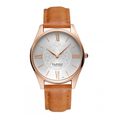 Quartz Watch Women Watches Ladies Famous Brand Wrist Watch Female Clock Montre Femme brown+white