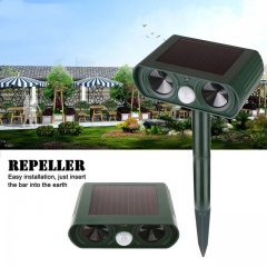Solar Power Ultrasonic Animal Pest Mouse Repeller PIR Sensor Garden Cat Dog Fox