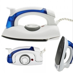 Electric Steam Iron Mini Portable For Clothes With 3 Gears Teflon Baseplate Handheld Flatiron as the picture