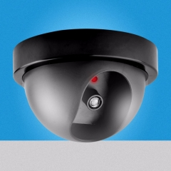 Outdoor Waterproof IR CCTV Dummy Dome of the LED fake Surveillance security camera as shown one size