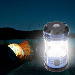 Outdoor Camping Lantern Flashlights Lamp With Compass Portable Tent Laterns Adjustable LED As shown one size