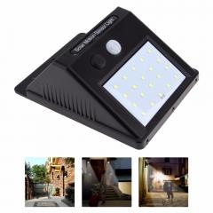 20 LED Waterproof LED Solar Power PIR Motion Sensor Wall Light Christmas