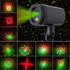 Laser Christmas lights star red green Showers Projector Outdoor Garden Decoration Waterproof IP65