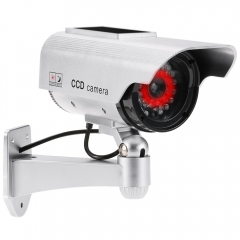 Fake Camera Solar and Battery Powered Flicker Blink LED Rainproof Outdoor Dummy Security Camera as shown one size
