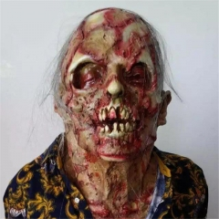 Halloween Adult Mask Zombie Mask Latex Bloody Scary Extremely Disgusting Full Face Mask