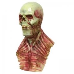 Scary Devil Zombie Mask Halloween Cosplay Party Horror Monster Skull Latex Fancy Skeleton Prop