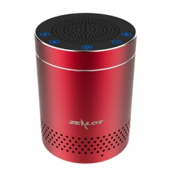 ZEALOT S15 Touch Control Bluetooth Speakers Wireless Portable Aluminum Alloy HiFi Stereo red one size one size