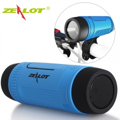 Zealot S1 Bluetooth Speaker Outdoor Bicycle Portable Subwoofer Bass wireless Speakers blue one size one size
